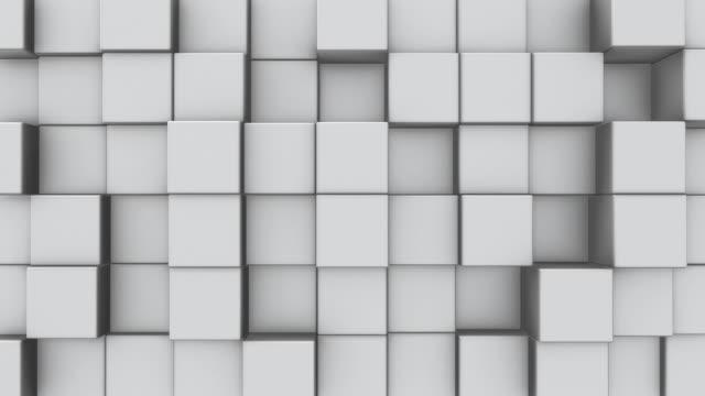 vidéos et rushes de une boucle abstraites cubes blanc - cube