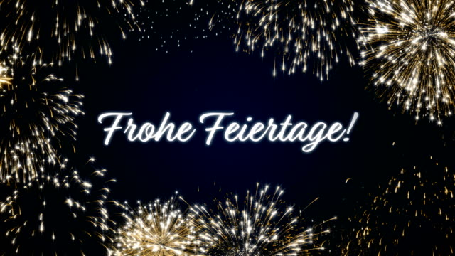 Royalty free french language hd video 4k stock footage b roll looping animated fireworks seasons greetings social post cardloop holiday celebration conceptltiple languages m4hsunfo