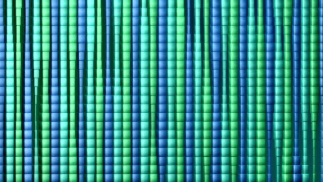 Looping background curtain of stretching teal cubes video