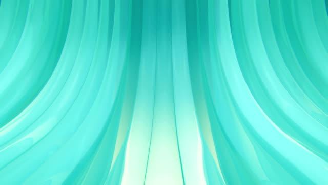 vídeos de stock, filmes e b-roll de cerceta fundo cintilante arcos de looping - azul turquesa