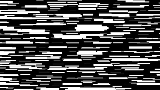 Looping black and white spinning rectangles pulsating in and out of 3D space video