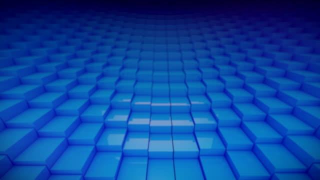 Looping Blue Blocks video