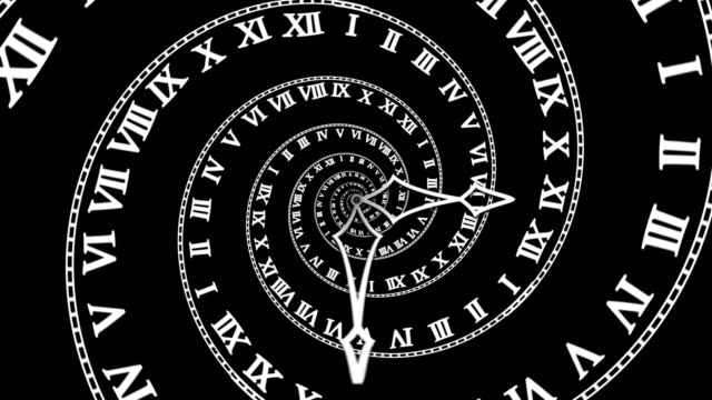 Looping Classic Spiral Clock (4K) video