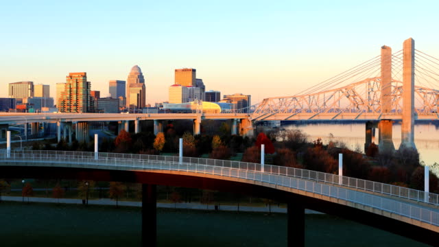Looping day to night timelapse of Louisville, United States video