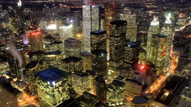 Video Looping day to night timelapse of Toronto, Ontario, Canada