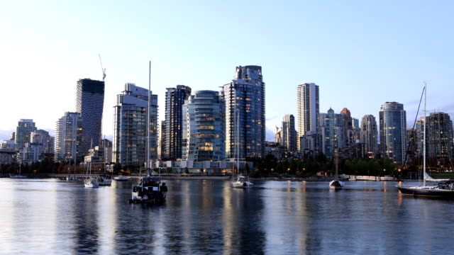 Looping dag tot nacht timelapse van Vancouver, British Columbia, Canada video