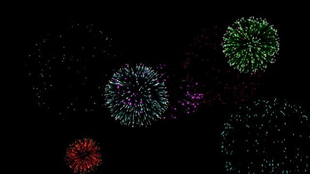 Looping Fireworks video