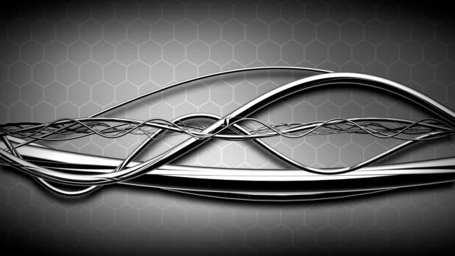 Looping HD - HighTech Silver Sinewaves video