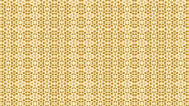looping honeycomb kaleidocsope - art deco architecture stock videos & royalty-free footage