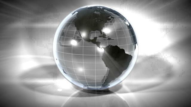 looping marmor jorden: glas och sten - bordsjordglob bildbanksvideor och videomaterial från bakom kulisserna