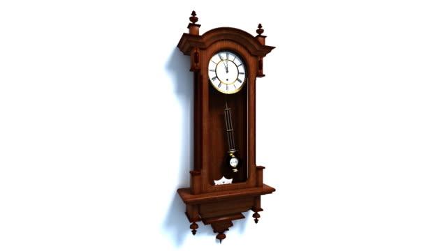 (HD1080) Looping Old WallClock Seamless Looping WallClock Animation wall clock stock videos & royalty-free footage
