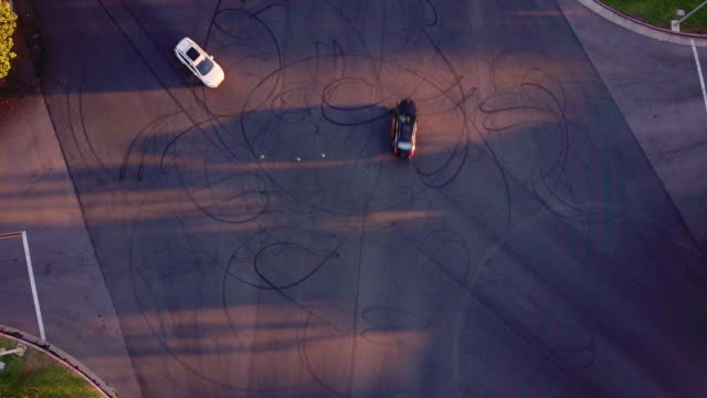 Looping Tire Tracks on Massive Intersection