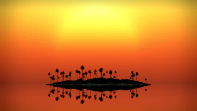 ループ状になると、熱帯の島の夕日へのシーケンス - 人里離れた点の映像素材/bロール
