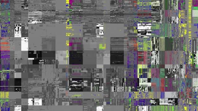 looping video interference footage. imitation of a data mosh video. - attrezzatura edilizia video stock e b–roll