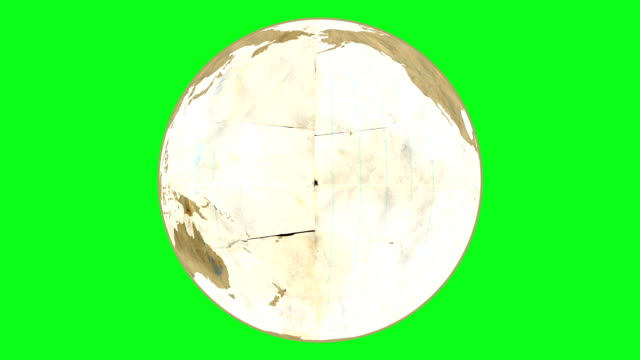 Loose Leaf Paper Globe Greenscreen video