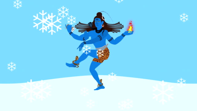 Lord Shiva on Mount Kailash with His Symbols video