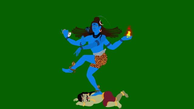 Lord Shiva The Destroyer Crashing Apasmara on a Green Screen video