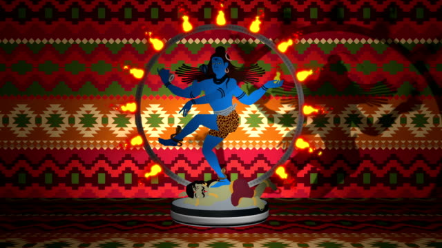 Lord Shiva The Destroyer Standing in a Ring of Fire video