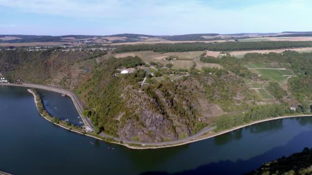 Lorelei Felsen über dem Rhein – Video