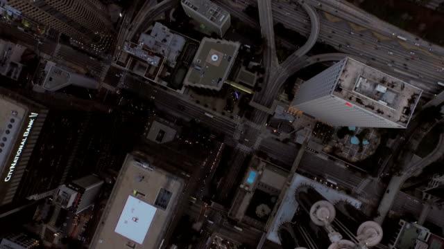 Los Angeles Aerial Downtown Dawn video