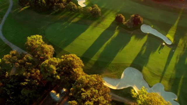 los angeles aerial golfplatz - golf stock-videos und b-roll-filmmaterial