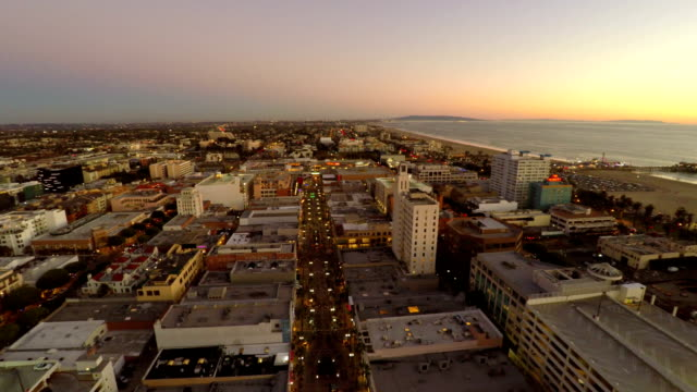 Los Angeles Aerial Santa Monica video