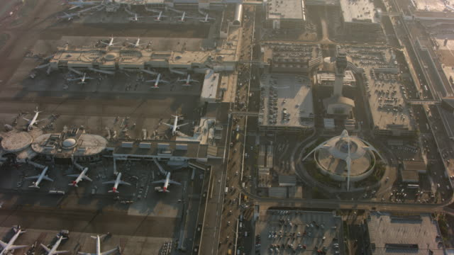 Los Angeles, Aerial shot of LAX International Airport. video