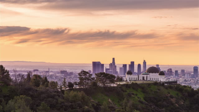 Los Angeles and Griffith Observatory Sunrise Timelapse video