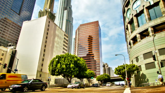 Los Angeles business district video