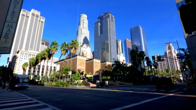 los angeles, ca - stadtzentrum stock-videos und b-roll-filmmaterial