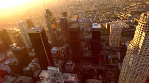 los angeles, california - centro della città video stock e b–roll