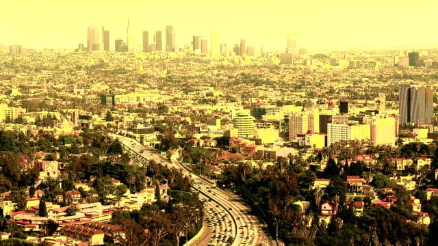 los angeles city dagsljus - hollywood sign bildbanksvideor och videomaterial från bakom kulisserna