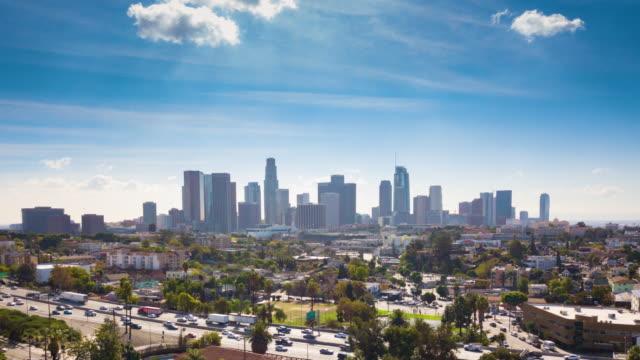 los angeles şehir manzarası echo park hyperlapse gün - los angeles stok videoları ve detay görüntü çekimi