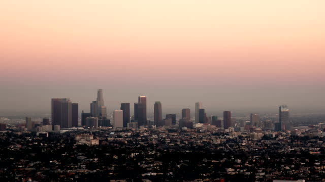 Los Angeles day to night timelapse video