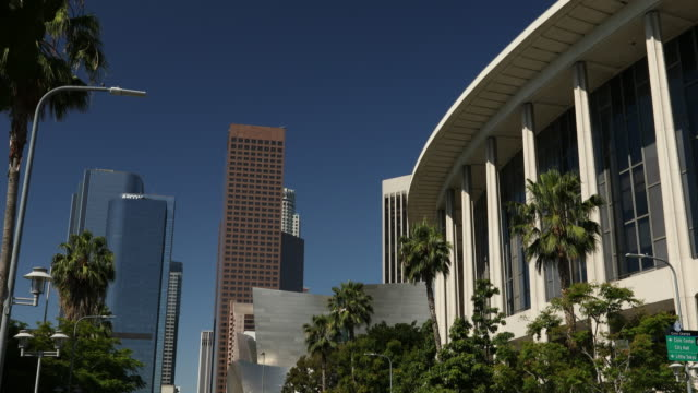Los Angeles downtown and Dorothy Chandler Pavilion video
