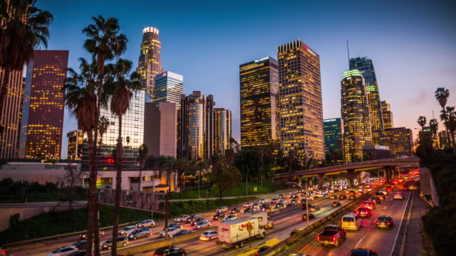Los Angeles downtown cityscape, California, USA video