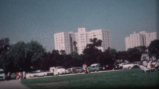 los angeles park 1973 - vintage architecture stock videos & royalty-free footage
