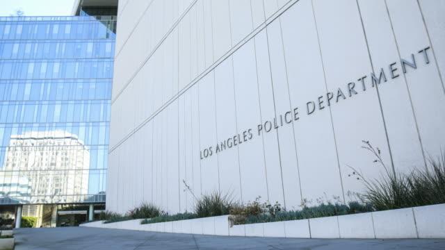 los angeles police department headquarters - quartiere generale video stock e b–roll