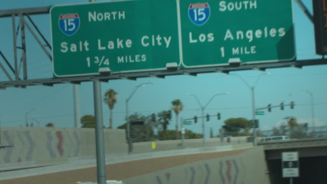 los angeles road sign 4k - road signs stock videos and b-roll footage