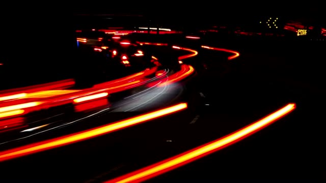 Los Angeles rush hour freeway night time lapse video