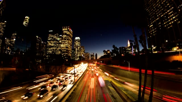 Los Angeles Rush Hour Traffic at Sunset video