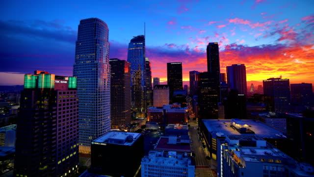 Los Angeles sunrise time lapse 4K video