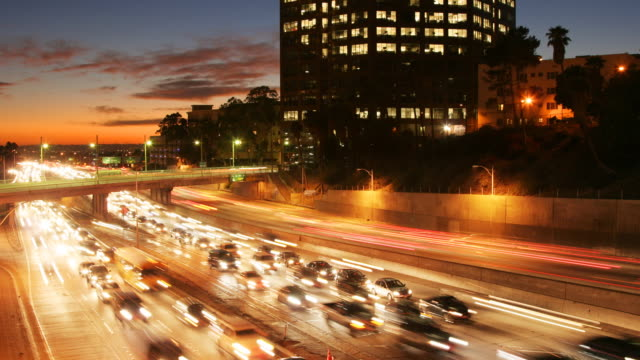 Los Angeles Sunset Traffic Time Lapse video