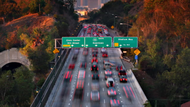 Los Angeles Traffic Time Lapse video