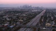 istock AERIAL Los Angeles with Downton in the background at sunset 1056413064