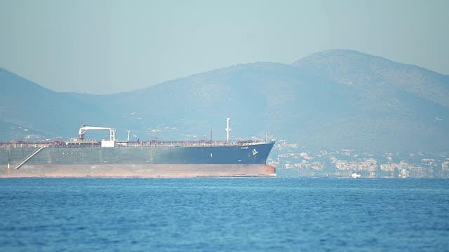 Сlose-Up Of Big Oil Tanker video