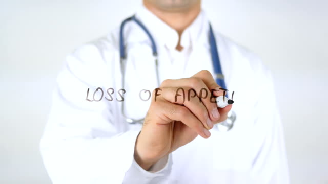 Loss of Appetite, Doctor Writing on Glass video