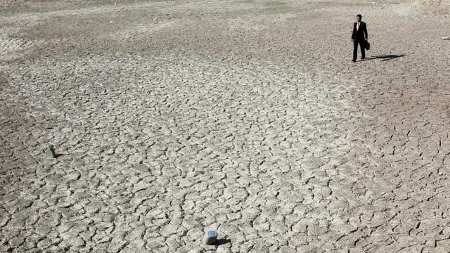 Lost businessman in desert looking for help video
