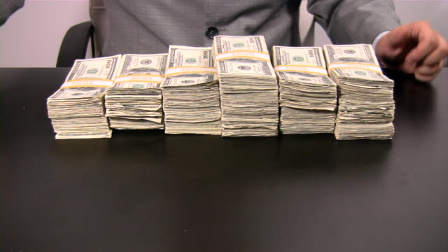 Lots of cash money. American dollars. US Paper Currency. video