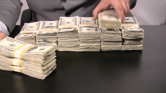Lots of cash money. Thousands  dollars. US Paper Currency. video